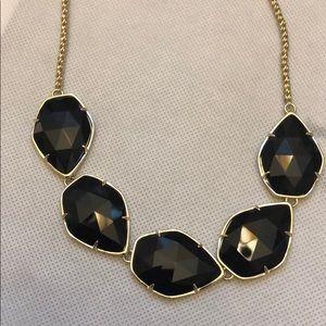 Kendra Scott black Connely necklace